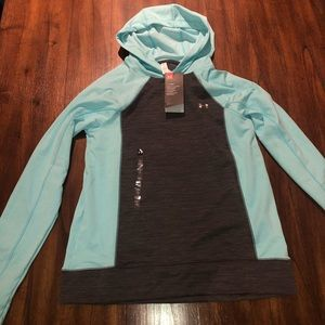 Under Armour teal and gray coldgear hoodie